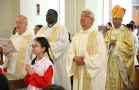主禮夏主教,共祭曾神父、馬神父、麥神父